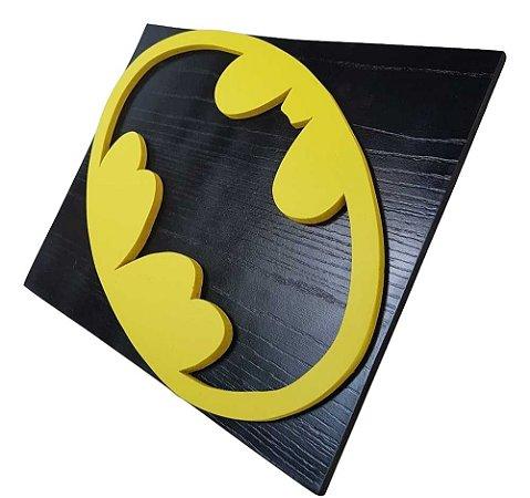 Quadro decorativo 3D Batman MDF Liga da Justiça
