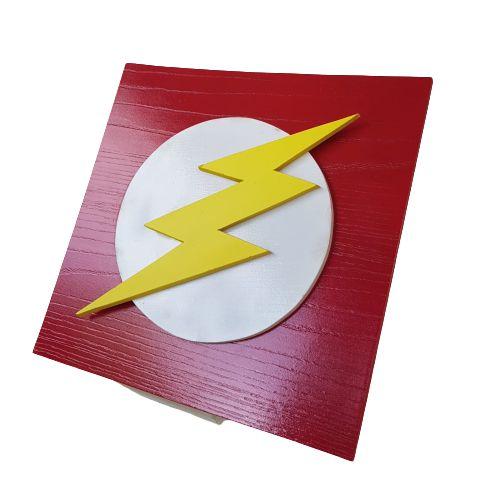 Quadro decorativo 3D Flash Liga da Justiça MDF