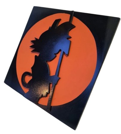 Quadro Decorativo 3D Goku Dragon Ball Z MDF