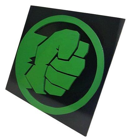 Quadro Decorativo 3D  Incrível Hulk Vingadores