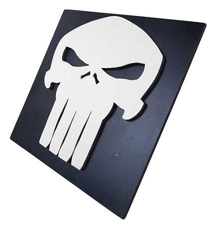 Quadro Decorativo 3D Justiceiro Punisher MDF