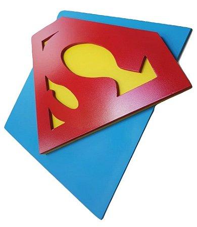 Quadro Decorativo 3D Superman Liga da Justiça MDF
