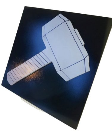 Quadro Decorativo 3D Mjölnir Thor Vingadores