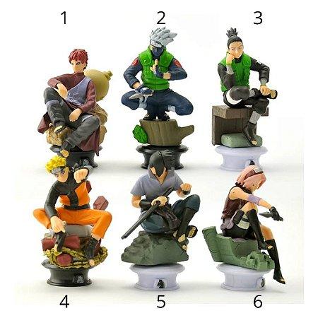 Action Figure Naruto Sasuke Sakura Coleção Xadrez