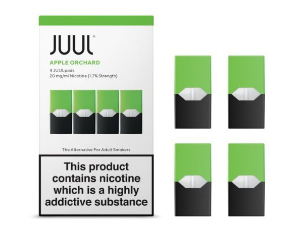 REFIL JUUL (PACK OF 4) APPLE ORCHARD 1,7% LONDRES