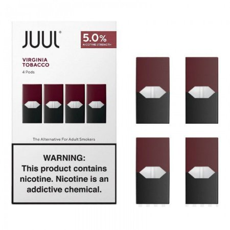 REFIL JUUL (PACK OF 4) VIRGINIA TOBACCO 5%MG NIC SALT