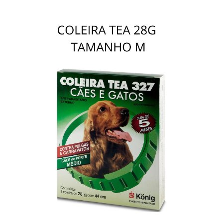 COLEIRA ANTIPULGA E CARRAPATO TEA TAMANHO M 44CM