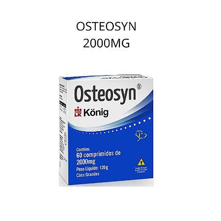 Osteosyn Cães 2000mg 60 comp. Konig Proteção Articular