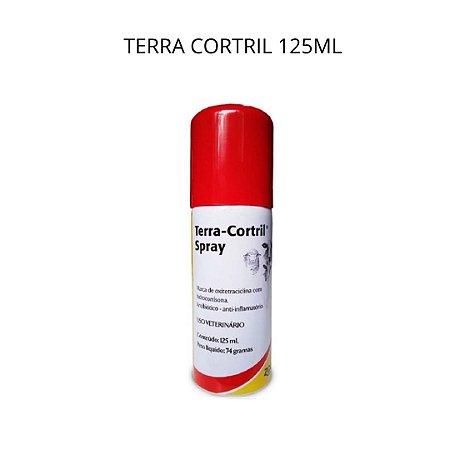Terra Cortril 125ml  Spray Antibiótico e Antiinflamatório