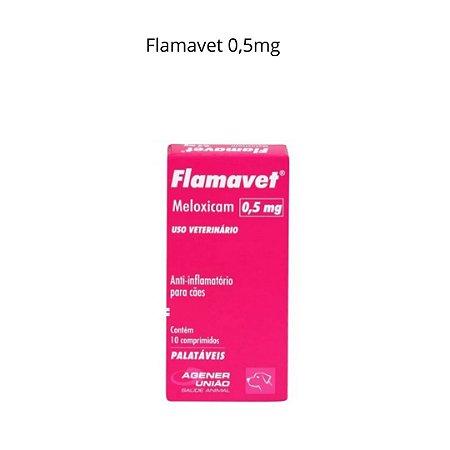 Flamavet 0,5 Mg Anti-inflamatório Para Cães Meloxicam