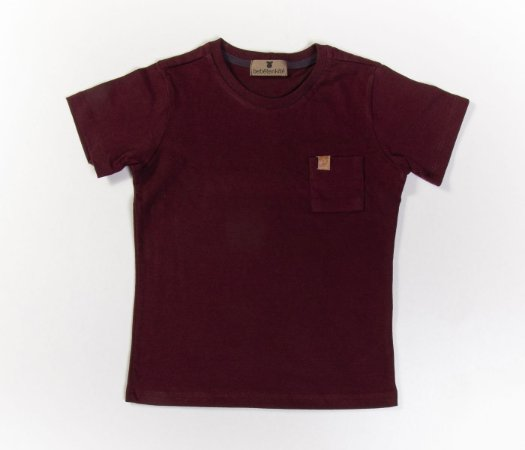 Camisa Infantil Gola Careca Malha com cheiro Vinho