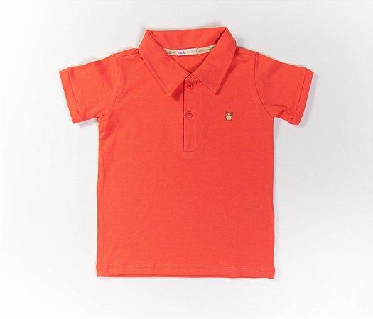 Camisa Gola Polo Infantil Cotton Cor Laranja
