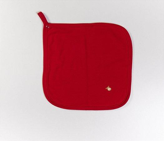 Paninho de Chupeta bebê Cotton Cor Vermelha