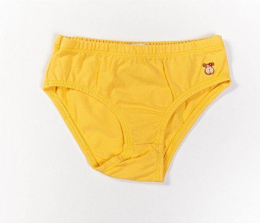 Calcinha Infantil Cotton Cor amarela