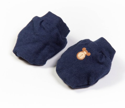 Luvinhas e Pantufas Bebê Cotton Cor Azul Marinho