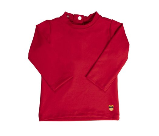 Camisa Bebê Malha Proteção Solar Cor Vermelho