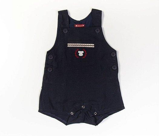 Francês Bebê Linho Azul Marinho