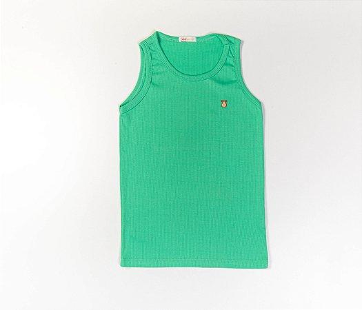Camiseta Infantil Nadador Malha Canelada Cor Verde
