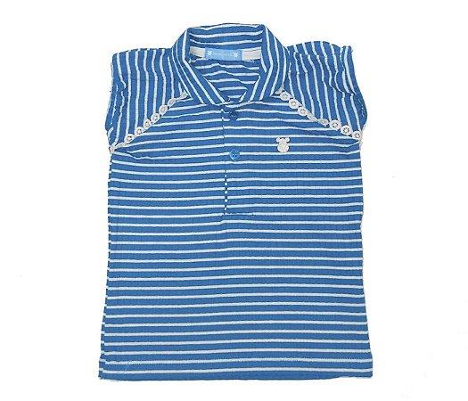 Blusa Gola Polo Infantil Raglan Azul, muita fofura e estilo para as pequenas.