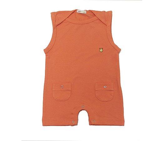 Francês bebê laranja básico muito estilo e praticidade para as mamães.