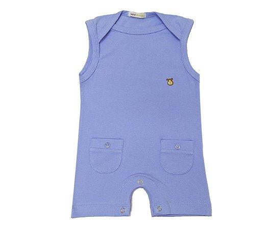 Francês bebê azul básico muito estilo e praticidade para as mamães.