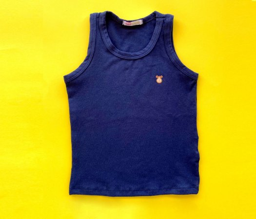 Camiseta Infantil Cotton Cor Azul Marinho