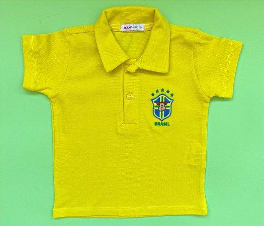 Blusa Gola Polo Brasil Cor Amarelo