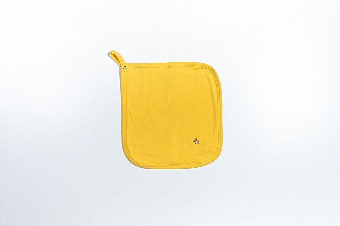 Pano de chupeta cor amarelo