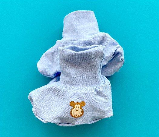 Luvinhas e Pantufas Bebê Cotton Cor Azul Claro