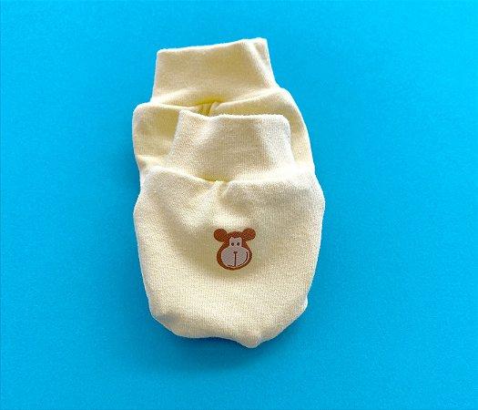Luvinhas e Pantufas Bebê Cotton Cor Amarelo