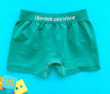 Cueca Infantil Boxer Micro Fibra verde