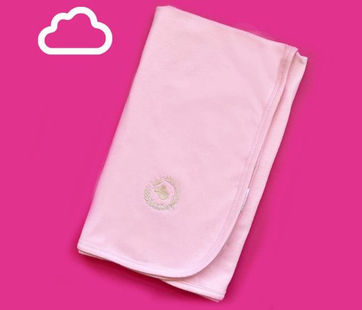 Manta Bebê Cotton Cor Rosa