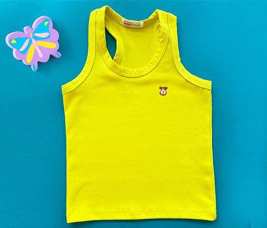 Regata Infantil Básica Cor Amarelo