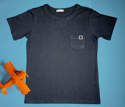Camisa Gola V Jerky preta