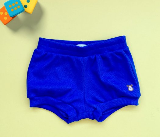 Short Infantil Básico Cor Azul
