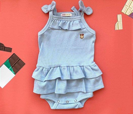 Body Bebê Básico Azul
