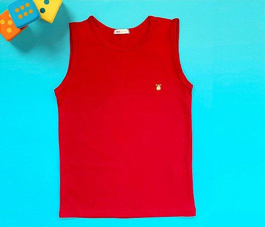 Camiseta Infantil Cotton Cor Vermelho