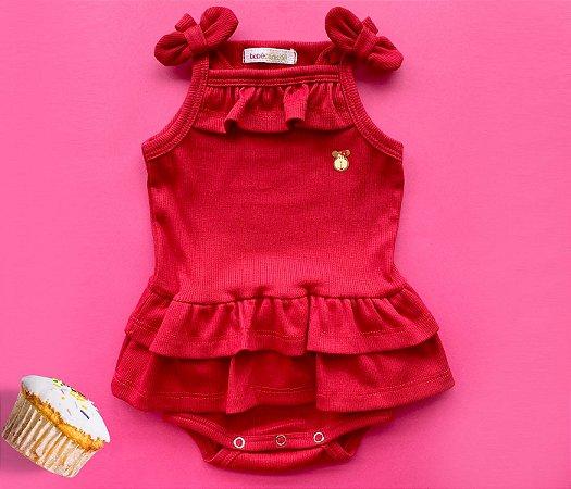 Body Bebê Básico Vermelho