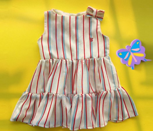 Vestido infantil Listras Off