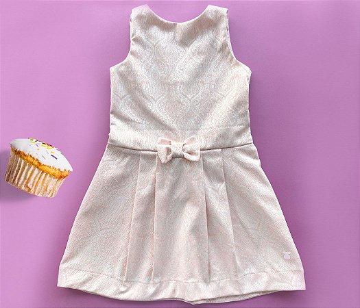 Vestido Infantil Trapezio Rosa