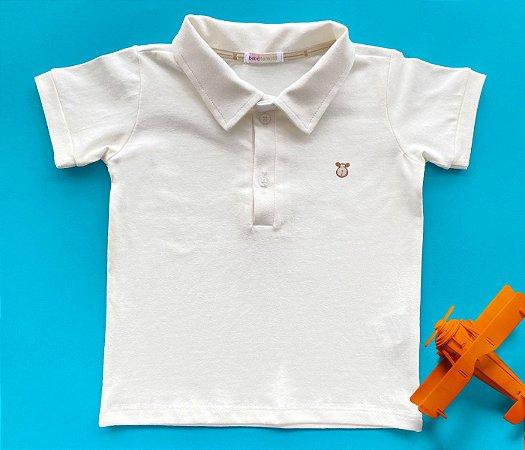 Camisa Gola Polo Infantil Cotton Cor Off