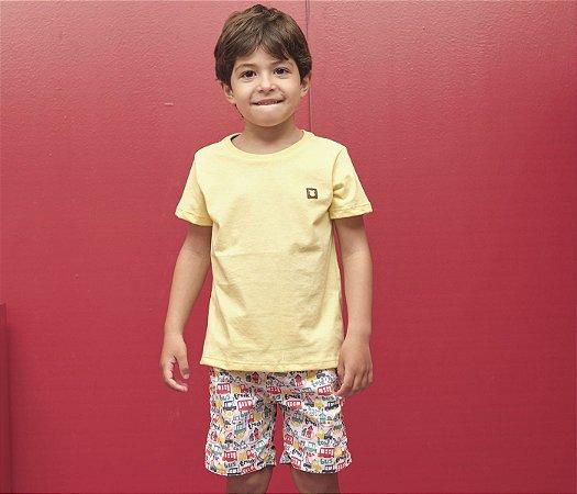 Conjunto Infantil Básico Estampa Carrinho