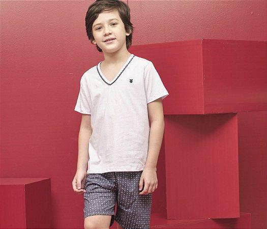 Pijama Infantil Short e Camisa