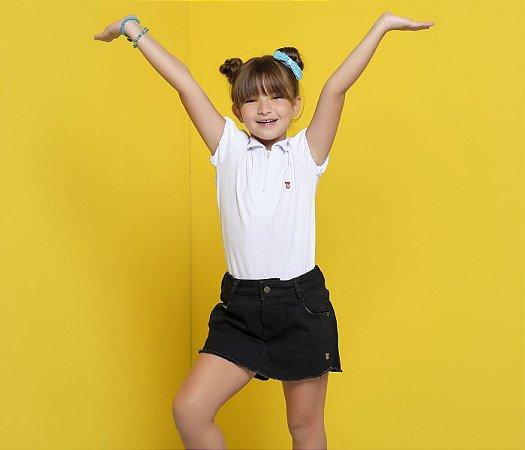 Short Infantil Jeans Preto