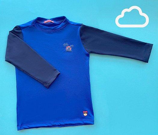 Camisa Bebê Malha Proteção Solar Coqueiro