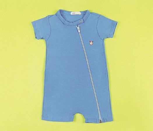 Francês Bebê com Zíper Cotton Azul Claro