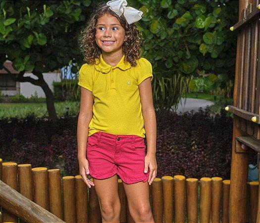 Short Infantil Sarja Vermelho