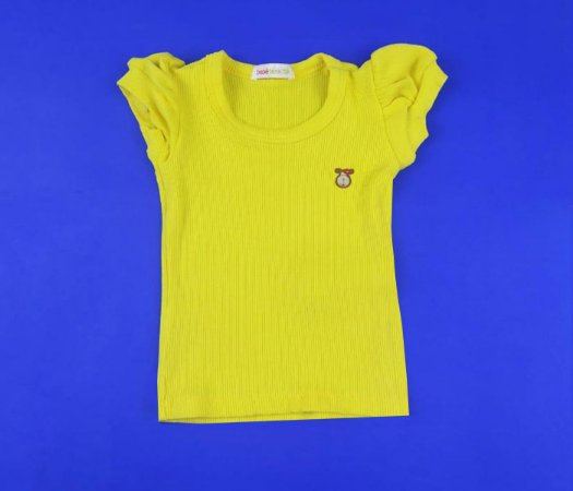Blusa Canelada Cor Amarelo