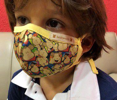 Máscara Infantil Estampada Bebêtenkitê Cores Variadas
