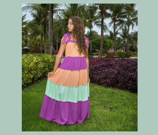 Vestido Teens Casual Viscose 3 Marias